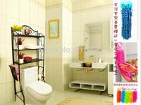 Bathroom shelf toilet frame bathroom folding towel rack small washing machine