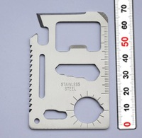 1pc 18 11 in 1 Survival Knife Multi Tool Camping Saber/card/Multifunction Outdoor Lifesaving Tool