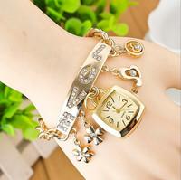 New fashion love bracelet watches women rhinestone watches women dress watches Wristwatches AW-SB-1088
