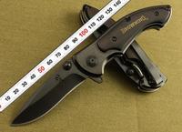 NEW OEM BROWNING LM337 337 Counter-Strike Black Ebony Steel Handle 440C 57HRC Blade Folding Pocket knife Camping Huting Tool