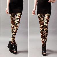 2014 New winter fashion combed cotton camouflage uniforms nine points leggings women Slim pencil pants