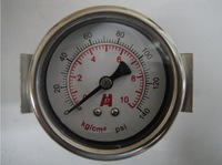 "Free Shipping Y-50ZV Manometer Pressure Gauge Meter 1/4""BSPT 50mm Dia 0-10kg/cm2 (0-140PSI)"
