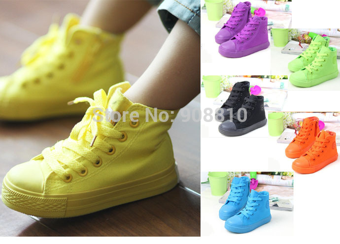 New!!Spring Autumn boys canvas shoes girls sneakers lace up zipper yeeshow children shoes tenis sapato infantil para menino(China (Mainland))