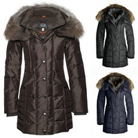 Christmas 2014 Winter Jacket Women Duck Down Long Parka Angie Master Piece 5 Years With Trim Fur Collar Coat Warm Polar Clothes