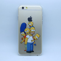 new design The Simpsons family paint print Transparent hard plastic case cover for iphone 4 4s 5 5S 6 6 plus