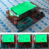 2014 Newest Mega328 Transistor Tester Diode Triode Capacitance ESR Meter detect MOS / PNP / NPN  Digital led LCR Meter