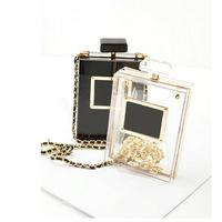 Perfume Bottle Evening Bag 2014 New Designer Paris Women Clutch Famous Brand Box Bag High Fashion Women Handbag Free Shipping