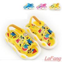 2014 New Summer Minion Toddler Children Beach Shoe Slippers Sound Brand Kids Children's Cheap Sandals Sandal For Kids Girl Boy