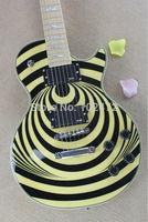 Classic zakk New Eye black and yellow electric guitar