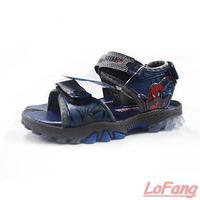2014 Summer New Children Boy Sports Sandal Brand Flashing Light Spider Man Children's Boys Sport Sandals For Kids