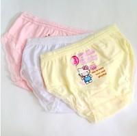 12 pcs-100% cotton Foreign trade children's underwear briefs of the girls princess and KT baby cotton girl's underwear