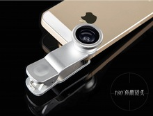 10pcs/lot Original 3 in1 universal clip lens for iphone samsung smartphones Fish Eye + Macro Lens+Wide Angle LQ-001 lens selfie
