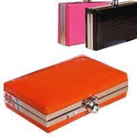 Vintage Crocodile Skin Evening Bag High Quality PU Leather Women Clutch Orange Messenger-bag Mini Wallet Clutch Shoulder Bags