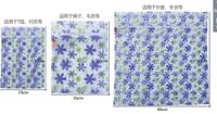 Net Cloth Washing Protect Bags of Three-piece Set Rain Flower Laundry Bags Set