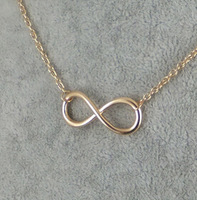 New Brand Designed Hot Sale Fashion Korea metal Infinity necklace Wholesale Statement Jewelry For Women