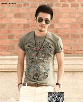XNAN 2014 new Printed T-shirt fashion casual short-sleeved T-shirt T723 short-sleeve Comfort T-shirt For Metrosexual men