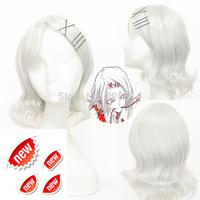 Free Shipping Anime Short Halloween Party Cosplay wigs Tokyo Guru Ken Kane JUZO SUZUYA / REI Straight Silver Grey Cosplay Wig