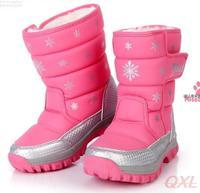 Kids Girls Fashion 2014 Boys Boots Winter Waterproof Shoes Kid Girl Snow Boot For Children Platform Snowflake Warm Shoe AE HD