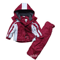 Foreign trade of the original single children's two-piece   ski clothes suit jacket suits for boys and girls ski pants