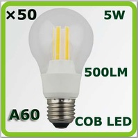 2015 new DHL100-265V 5W COB LED bulbs bombilla LED A60 500LM E27 equal to 40W incandescent bulbs