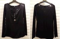 Lady Chiffon fashion blouse long sleeve women V neck dress OL shirt Free Shipping