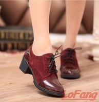 2014 Autumn Winter Women Pumps Womans Shoes High Heel Women's Leather Shoe Ladies Black Suede Heels Vintage Red Pump Spring