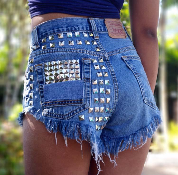 Джинсовые шорты женская