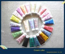 Hot ! new 2pcs / 50g modeling of ice cream gel cream color combination glue phone case cake cream nail adhesive glue(China (Mainland))
