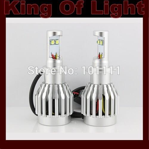 Источник света для авто King 2XHigh H7 20W cree 3000LM 6000K источник света для авто oem 2 h7 6000lm 30 auto 6000k 360 dc12 24v