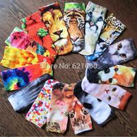 free shipping 20pcs=10pairs=1lot 3D boat socks three dimensional cartoon socks Harajuku wind animal print socks wholesale stalls