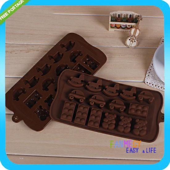 cavalo carro forma chocolate/silicone sabão/gelo/geléia pudim/diy decoração do bolo do molde bolo ferramentas macarons(China (Mainland))