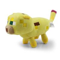 Retail 24cm Leopardus Pardalis Plush Toy Genuine Minecraft JJ dolls Kids Brinquedos Stuffed Minecraft Coolie Afraid Of My World