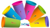Wow Cup Uni Flow Drinking edge Lid As Seen On TV Spill Free 360 Even Seal BPA free baby cup free shipping