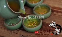2014 newly listed novelty item fish design decoration handmade tea set porcelain tea pot Longquan celadon