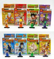 2014 Box Dragonball Z GT Action Figures 8PCS/Set  PVC Cute Dragon Ball Goku/Vegeta Building Blocks Best Gift Free Shipping