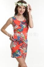 2014 summer TWO Colors Thin Cool Slim Fashion Blue Butterfly Beach dress,Beachwear , Beach clothes