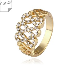 Ring 18K Gold Ring 18K Lastest Design Ring Women's Charm Jewelry Free Shipping huio LGPR540-8(China (Mainland))