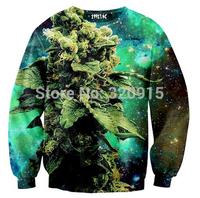 New 2014 man hoody coral print weed galaxy sweatshirt hoodies high street hip hop 3d sweater
