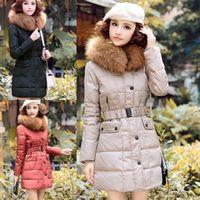 2014 New Womens Long Duck Down Jacket Slim Fit Warm Parka Hooded Winter Coat Outwear