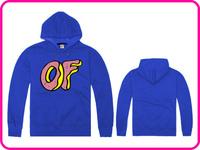 Free Shipping Online Stock Brand Odd Future Man Women Blue Color Jacket Coat Warm Outerwear Hooded Sweatshirts Hoodies