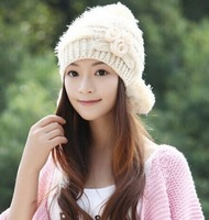 Winter fashion tide cap wool hat female hat rabbit hair knitted winter cap Hat