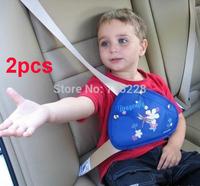 car safety belt seat adjust device baby child safety belt protector seat belt positioner 2pcs