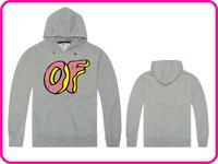 Free Shipping Online Stock Gray Color Brand Hip Hop Skateboard Odd Future Donut Autumn/Winter Top Design Hoodies Sweatshirt