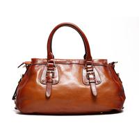 Luxury Brand High Quality Vintage Designer Fashion 100% Top Genuine Cowhide Leather Women Handbag Shoulder Messenger Bag Bags