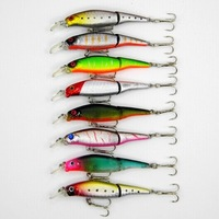 New 8 Colors Jointed fishing lures 9CM-7.6G hard bait artificial tools fish hook tackle pesca minnow wobblers Free shipping