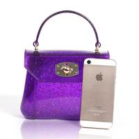2014 new summer models handbags colorful candy-colored translucent silicone jelly mini handbag bag fashion bag