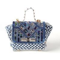 2014 new denim diamond large capacity bag handbag casual denim bag free shipping a002