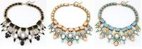 2013 New Fashion Beauty Luxury Sparkling Multi Colored Faux Crystal Gem Vintage Bib Statement Necklace,1pcs/lot