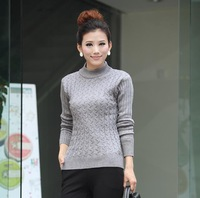 Free Shipping 2015 New Fashion Autumn Winter Women Wool Sweaters Elastic Turtleneck Long Sleeve Cardigan Gray,Army green,Black