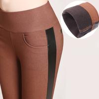 3 Color S-4XL Casual Elastic Slim Tights Winter Thick Fleece High Waist Trousers Women Plus Size Pants Capris,Pencil Pants Women